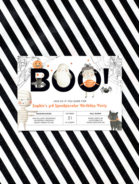 Halloween Kids Birthday Invitation