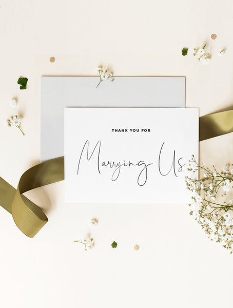 Thank You For Marrying Us Card - Script