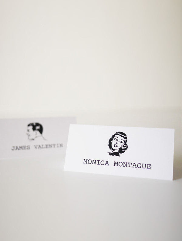 1950 Retro His and Hers Name Cards