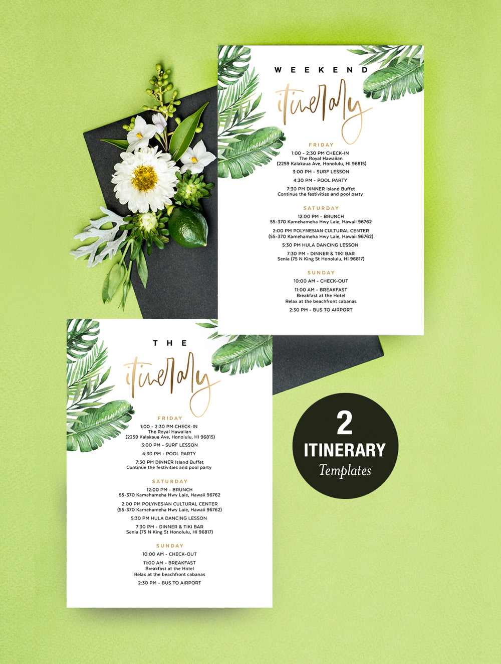 Geometric Tropical Hens Party Invitation #TROP03_B
