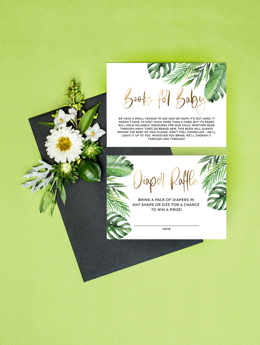 Geometric Tropical Oh Boy Shower Invitation 3P TROP03