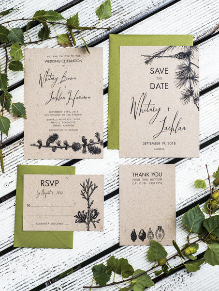 Pine Tree Wedding Set
