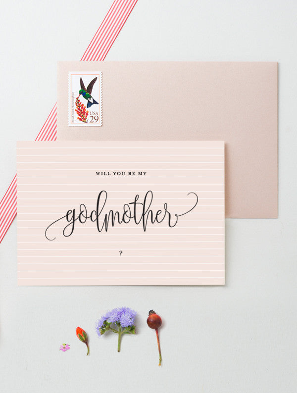 Will You Be My Godmother My Godfather - 2 Pack