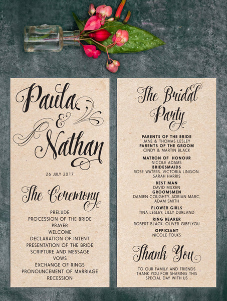 Wedding Program No. 3