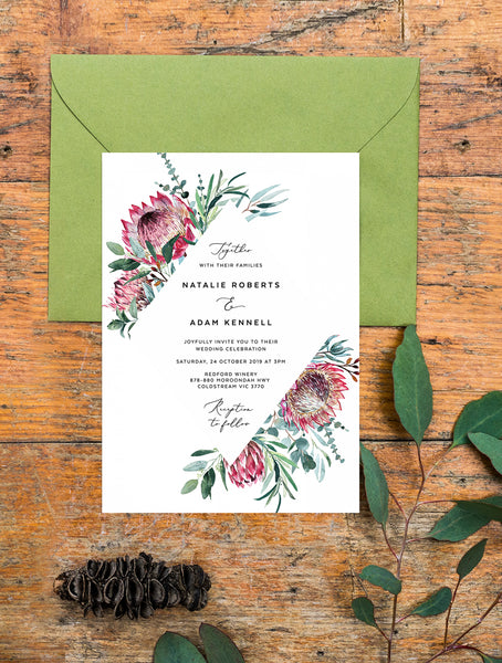 Protea Wedding Invitation #PRO1