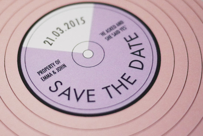 Vintage Record Player Save The Date