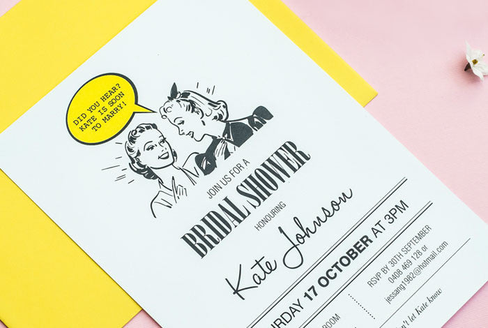 Retro Women Gossip Bridal Shower Invitation
