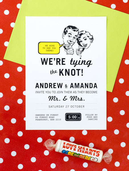 1950 Retro No. 2 Wedding Invitation