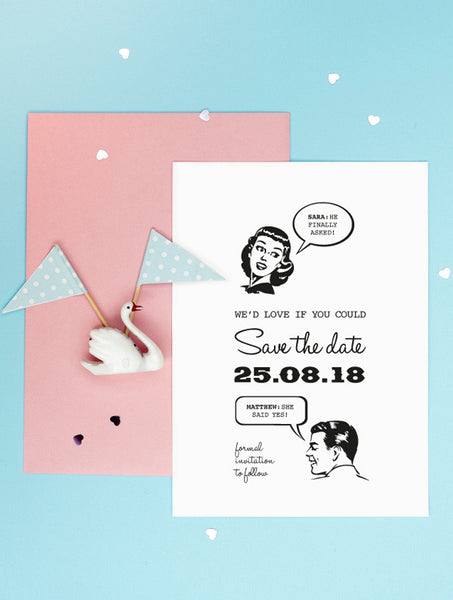 1950 Retro Save The Date