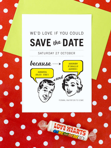 1950 Retro No. 2 Save The Date