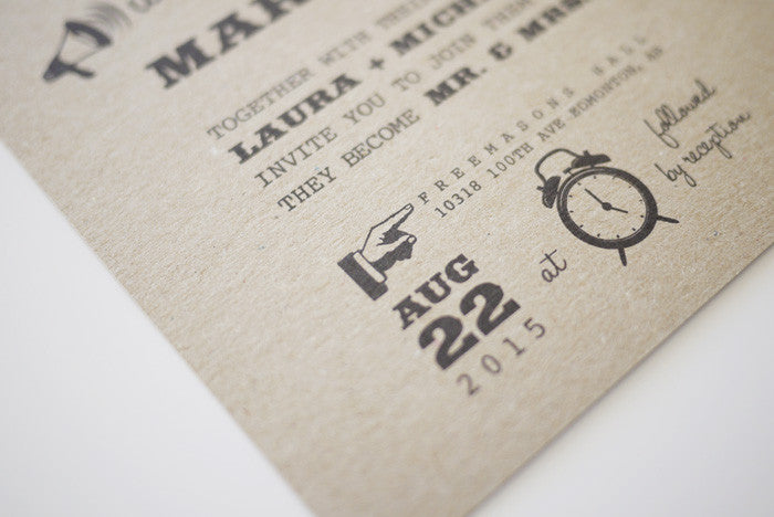 1950 Retro Wedding Invitation