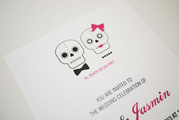 Til Death Do Us Part Wedding Invitation