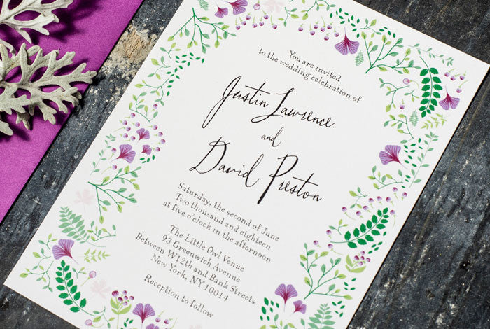 Spring Woodland No. 1 Wedding Invitation