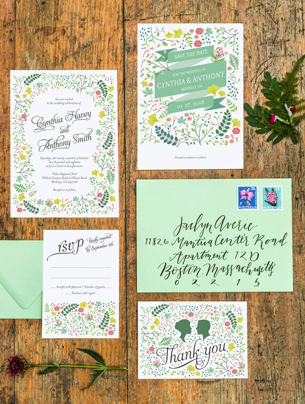 Spring Woodland No. 2 Wedding Set