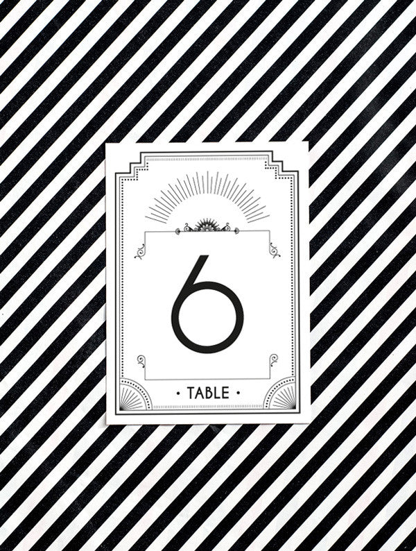 Old Hollywood No. 1 Table Cards