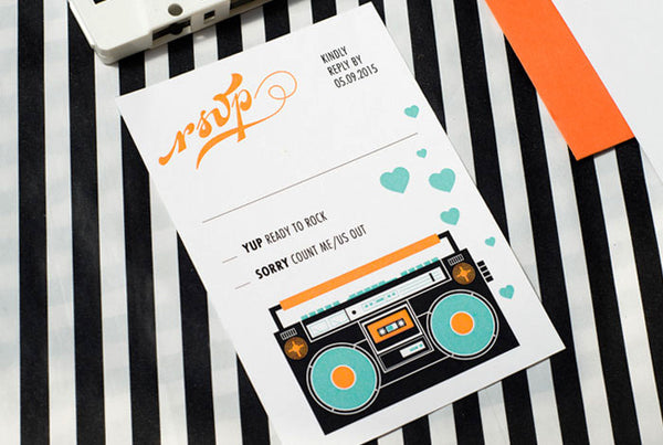 Cassette Tape Wedding Set