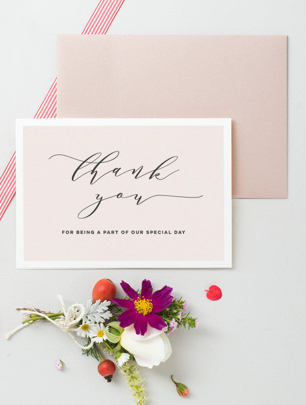 Thank You Special Day Card - Pink