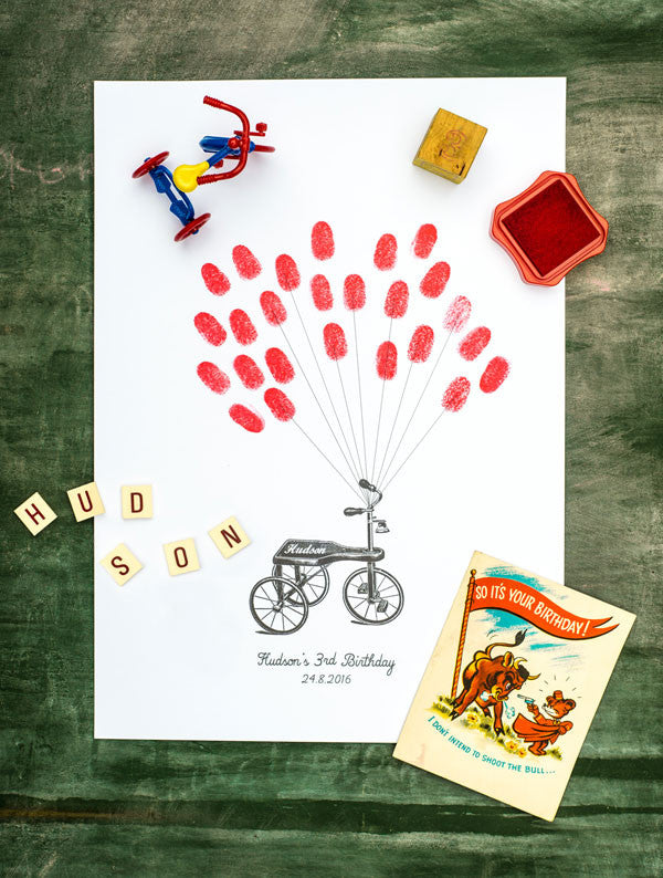 Tricycle Thumbprint Poster
