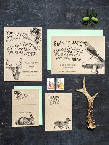 Woodland Animals Wedding Set
