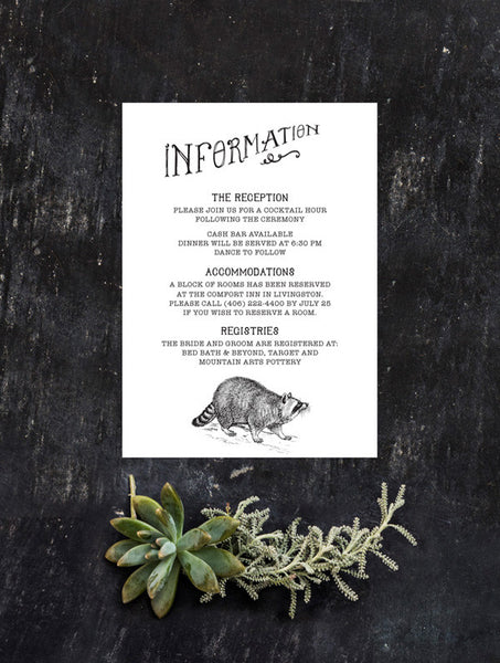 Woodland Animals Information Card