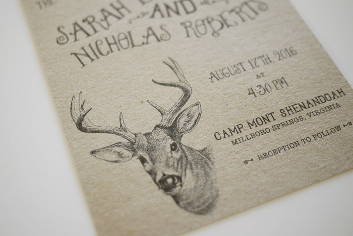 Woodland Animals Wedding Invitation