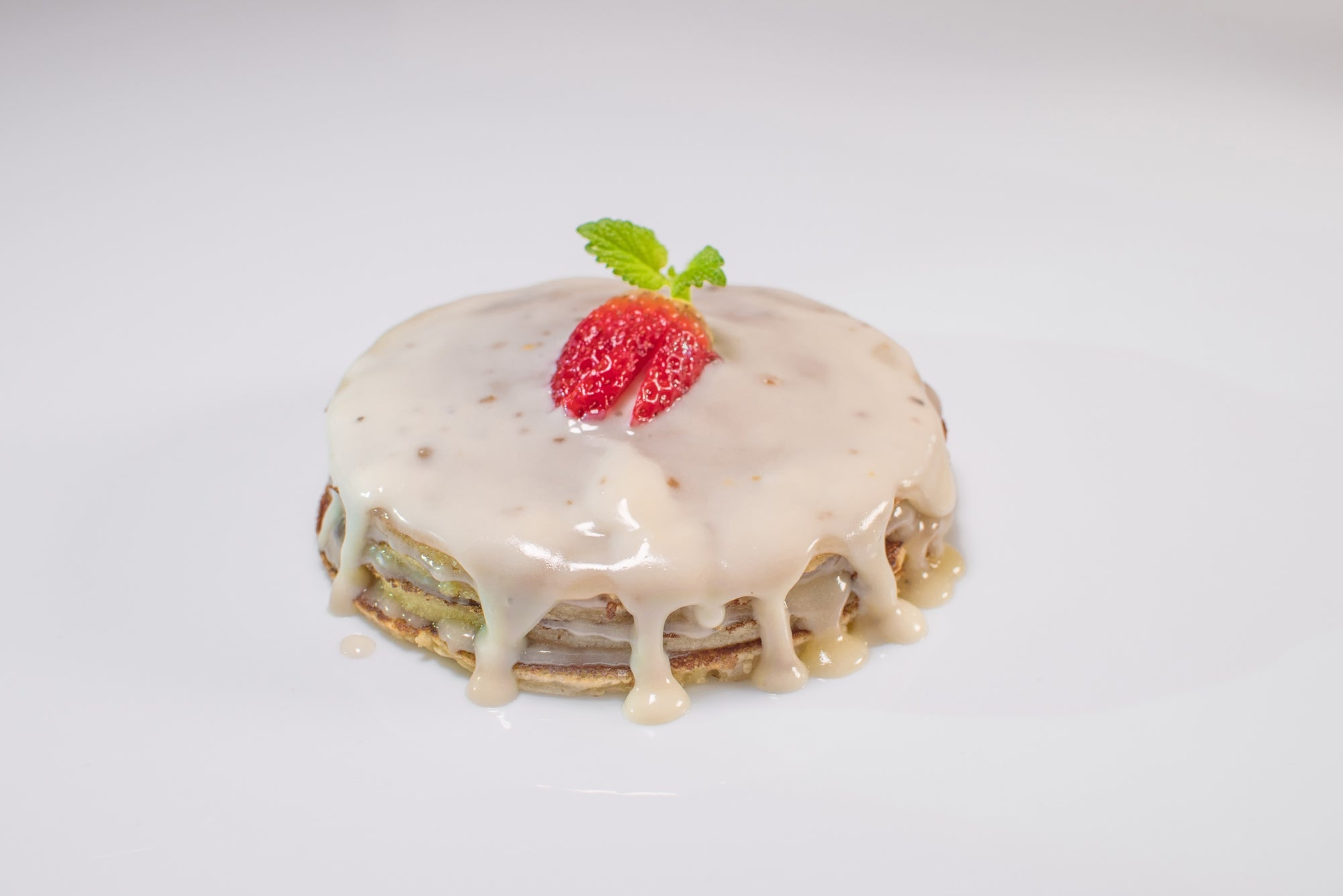 Pancakes with Truffles in white choco cream