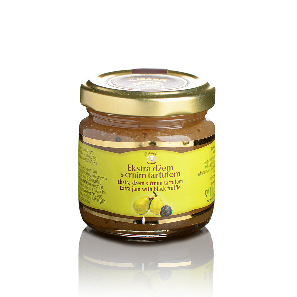 Specialties with Truffles Pear extra jam with black truffle - Zigante Tartufi Online Shop, Truffle Shop, Truffle Products
