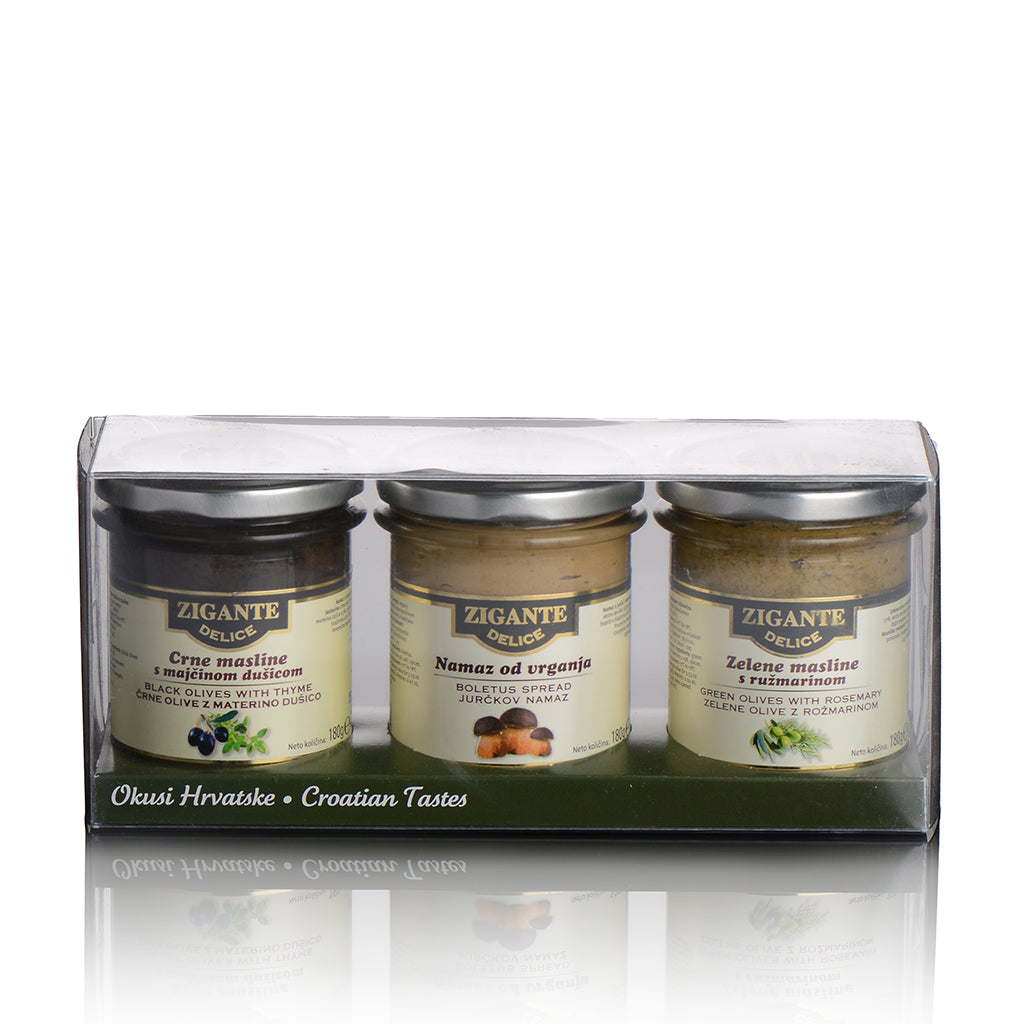 Zigante Delice Spread collection gift box 3x180g - Zigante Tartufi Online Shop, Truffle Shop, Truffle Products