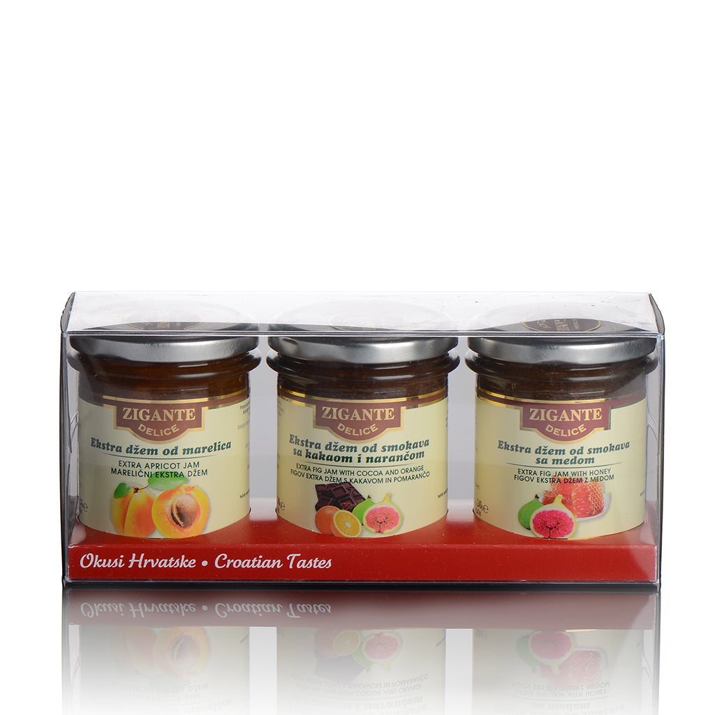 Zigante Delice Extra jams Collection Gift box 3x240g - Zigante Tartufi Online Shop, Truffle Shop, Truffle Products