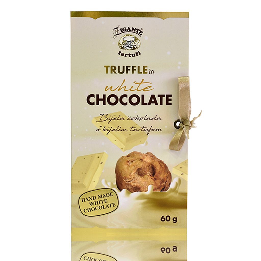 Specialties with Truffles White Chocolate with White Truffles - Zigante Tartufi Online Shop, Truffle Shop, Truffle Products