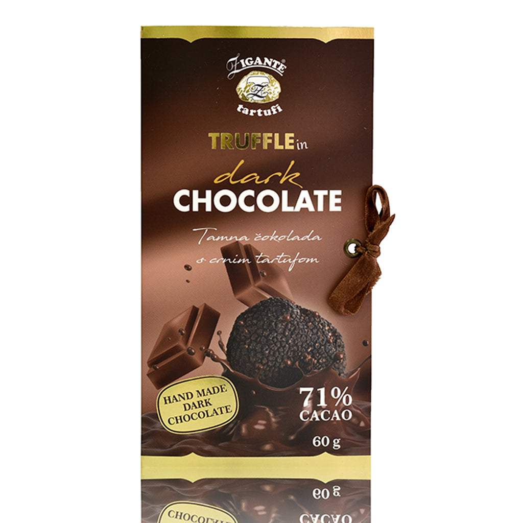 Specialties with Truffles Dark Chocolate with BLACK truffle - Zigante Tartufi Online Shop, Truffle Shop, Truffle Products