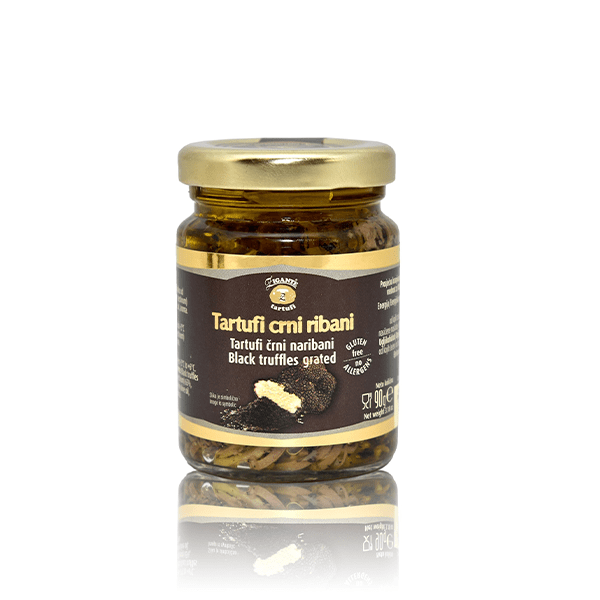 Preserved truffles Black truffles grated - Zigante Tartufi Online Shop, Truffle Shop, Truffle Products