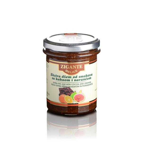 Zigante Delice Extra fig jam with Cocoa & Orange 240g - Zigante Tartufi Online Shop, Truffle Shop, Truffle Products