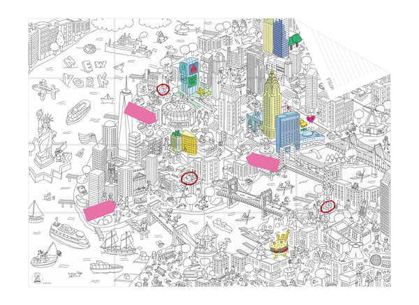 coloring pocket map CITY - New York
