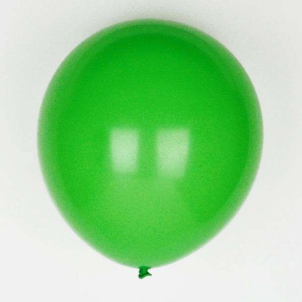 10 dark green balloons