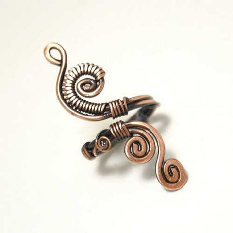 Handmade Copper Wire Wrapped Adjustable Ring - Zymotic