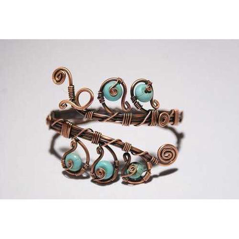 Handmade Copper Wire Turquoise Bracelet - Zymotic