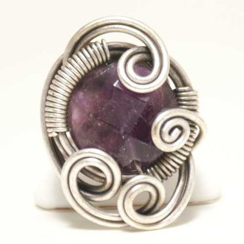 Handmade Amethyst Ring, Wire Wrapped - Zymotic