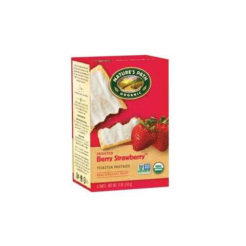 Nature's Path Un-Frosted Strawberry Toaster Pastry (12x11 Oz) - Zymotic