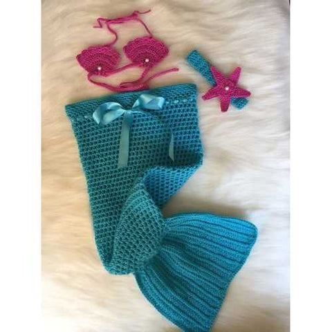 Handmade Mermaid Crochet Baby Costume - Zymotic