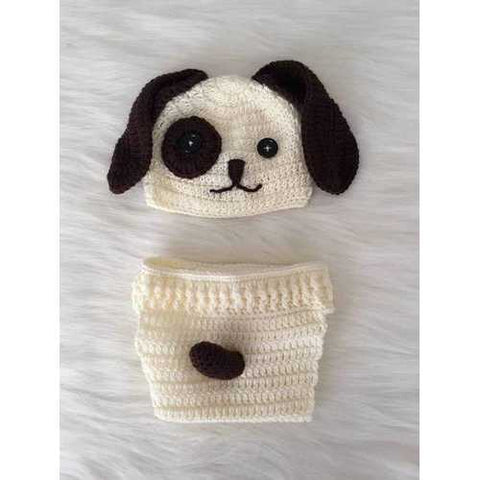 Handmade Baby Hat & Knit Diaper Cover Doglover - Zymotic