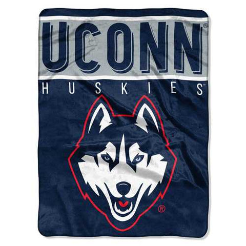 Connecticut Huskies Blanket 60x80 Raschel Basic Design Special Order - Zymotic