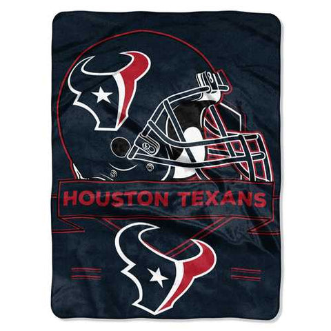 Houston Texans Blanket 60x80 Raschel Prestige Design - Zymotic