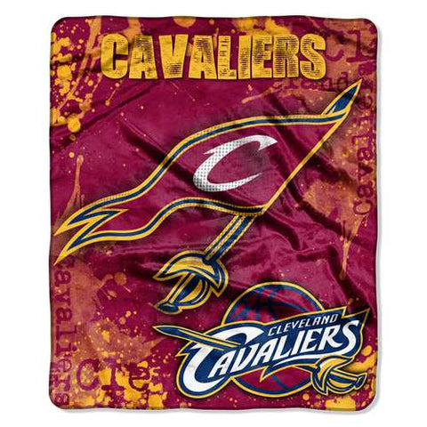 Cleveland Cavaliers Blanket 50x60 Raschel Drop Down Design - Zymotic