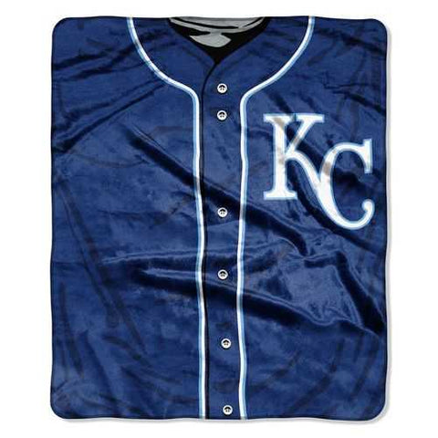 Kansas City Royals Blanket 50x60 Raschel Jersey Design - Zymotic