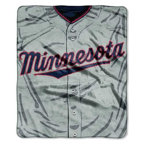 Minnesota Twins Blanket 50x60 Raschel Jersey Design - Zymotic