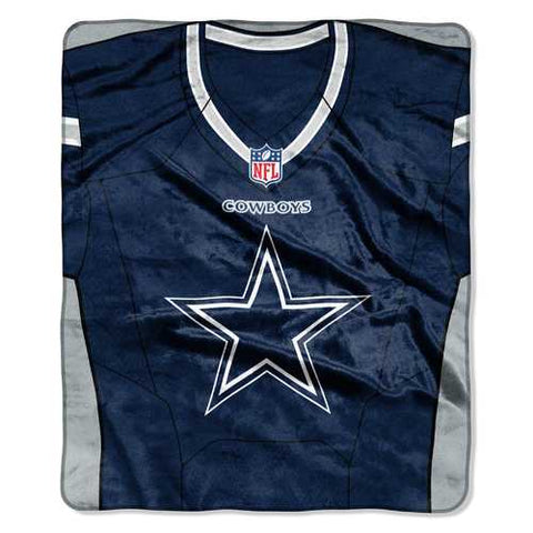 Dallas Cowboys Blanket 50x60 Raschel Jersey Design - Zymotic