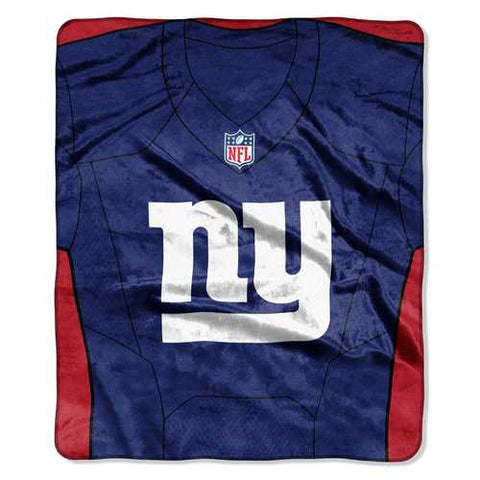 New York Giants Blanket 50x60 Raschel Jersey Design - Zymotic