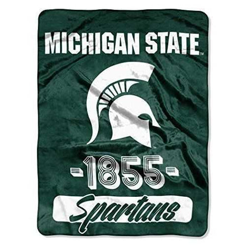 Michigan State Spartans Blanket 46x60 Micro Raschel Varsity Design Rolled - Zymotic