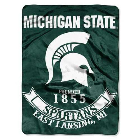 Michigan State Spartans Blanket 60x80 Raschel Rebel Design - Zymotic
